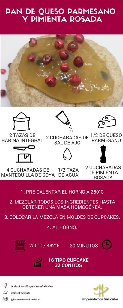 Pan de Queso Parmesano y Pimienta Rosada